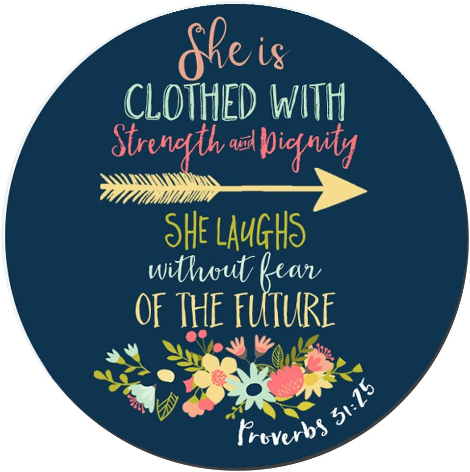 BWOOLL Outlet sale feature Christian Great interest Quotes Mouse Pad Proverbs Verse 31:25 Bible She