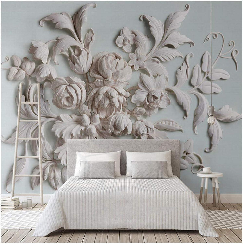 bajo precio del 40% Mural Personalizado Mural 3D En Relieve Hermosa Hermosa Hermosa Flor de Peonía Europea Fondo de Pantalla en 3D Dormitorio Dormitorio Fondo de la Parojo Decoración Del Hogar Fresco  estar en gran demanda