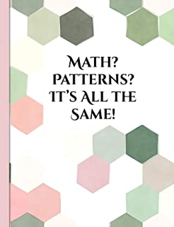 Math? Patterns? It's All the Same!: Graph Paper Composition Notebook with 1/2-inch Grids