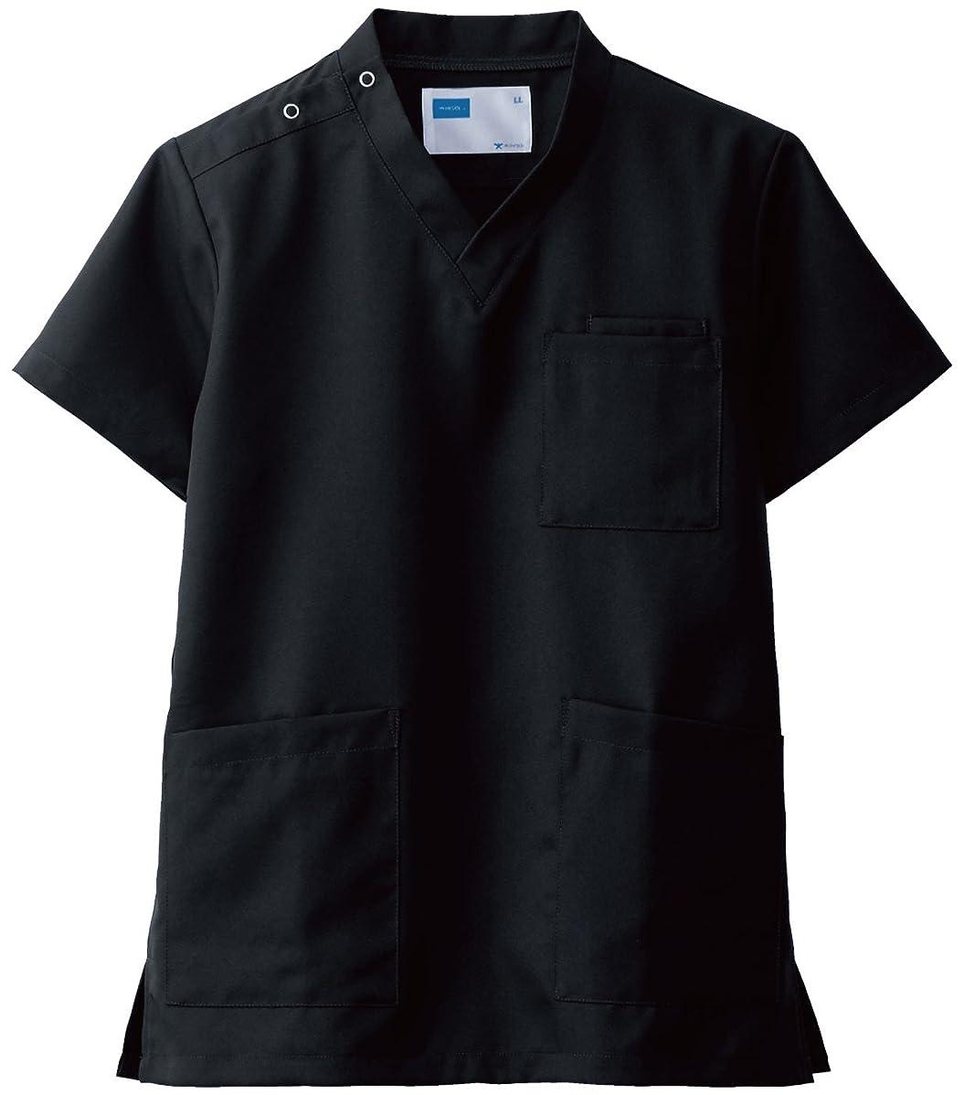 圧縮する浪費寝室自重堂(JICHODO) スクラブ ホワイセル WHISEL 白衣 jd-wh11485a ブラック LL