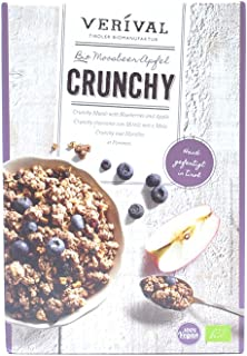Verival Organic Crunchy Granola Muesli with Blueberries and Apple, 325 g