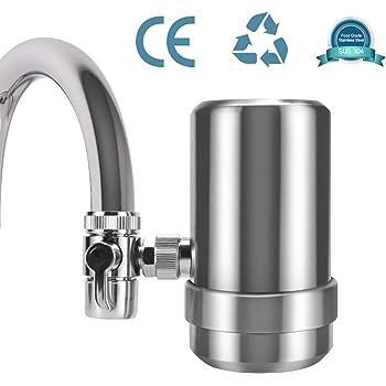 YJHome Filtro de Agua para Grifo | Filtros para Grifo de Ahorro de Acero Inoxidable 304 | Sistema de Filtración de Agua Saludable y de Calidad Accesorios de Cocina: Amazon.es: Hogar