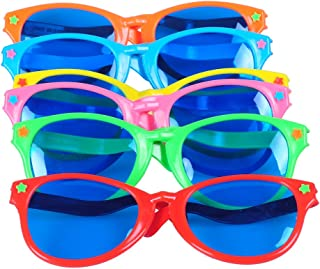 b6c2ae27813 Seekingtag Colorful Jumbo Blue Lens Sunglasses for Costumes Cosplay  Halloween Party Fun Party Favor Photo Booth