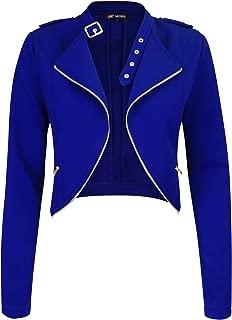 Womens Fleece Jacket Classic Crop Rider Zip UP Jacket