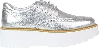 HOGAN Luxury Fashion Womens MCGLCAB000005134E Silver Lace-Up Shoes   Season Outlet