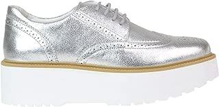 HOGAN Luxury Fashion Womens MCGLCAB000005134E Silver Lace-Up Shoes | Season Outlet