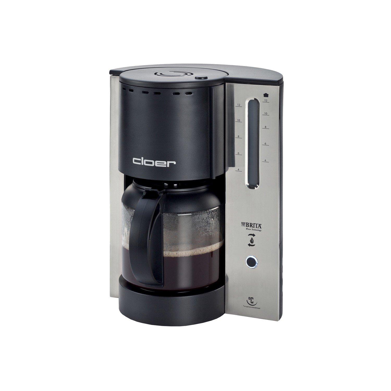 Cloer 5208 Cafetera Filtro Electrica Black, 1000 W, 1.8 litros, plástico y acero inoxidable, Negro: Amazon.es: Hogar