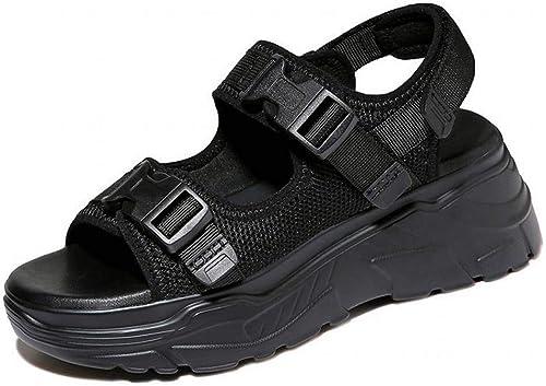 LTN Ltd - sandals Sandales de Sport Décontractées, Noir, 35 35  nouveau style
