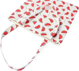 Women's Cotton Watermelon Print Canvas Tote Shopping Bag