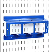product image for Wall Control Drill Holder Power Tool Storage Rack - Compact Impact Drill Battery Power Tool Pegboard Organizer for Wall Control Pegboard (Blue)