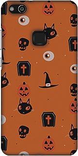AMZER Slim Fit Handcrafted Halloween Designer Printed Hard Shell Ultra Light Back Case Cover Skin for Huawei P10 Lite - Sp...