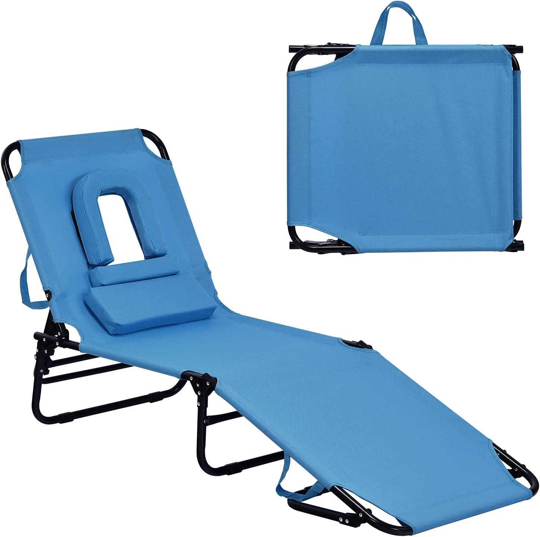 GYMAX Beach Lounge Houston Mall Chair New York Mall Patio Sunbathing Fo