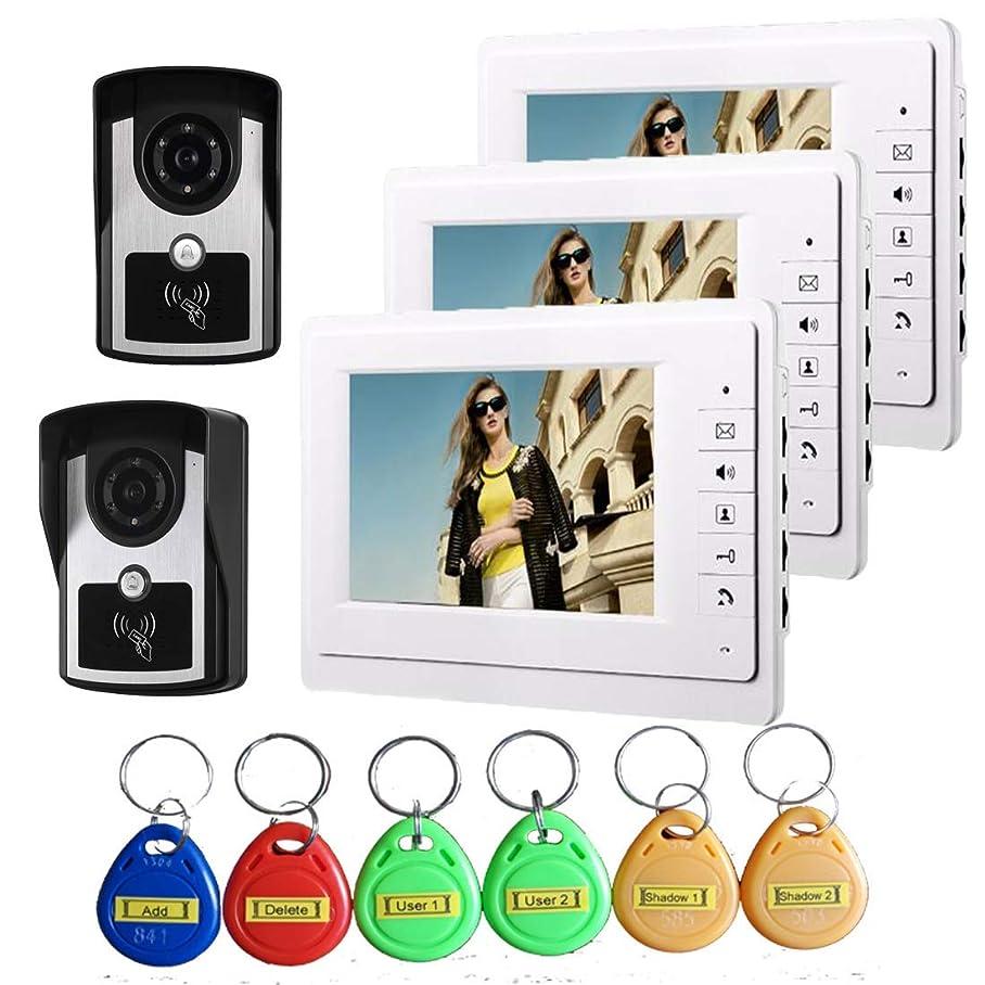 WG 7 inch Intelligent Video doorbell Remote intercom Access Control System HD 1000TVL Infrared Camera m163107692