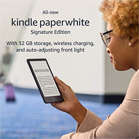 """Introducing Kindle Paperwhite Signature Edition (32 GB) – With a 6.8"""" display, wireless charging"""