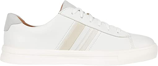 White/Tan Leather/Suede Combi