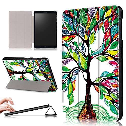 Xuanbeier Funda Ultra Delgado Compatible con Samsung Galaxy Tab A 10.1 SM-T580 T585, Árbol de Suerte