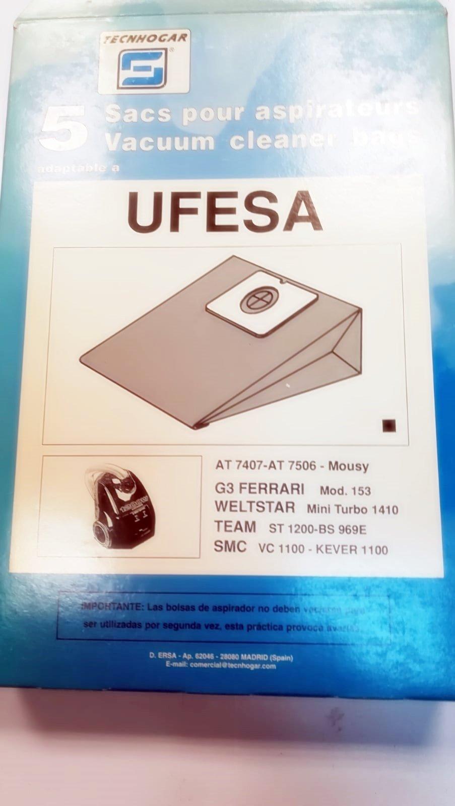 Taurus Bolsas Aspirador COMPATIBLES UFESA: Amazon.es: Hogar