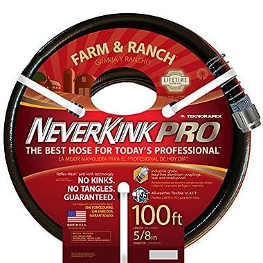 Teknor Apex Neverkink, 8846-100 Farm & Ranch Water Hose, 5/8-in x 100-feet