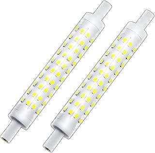J Type 118mm Double Ended T3 R7S Halogen Bulb Replacement, Klarlight J118 LED Dimmable R7S Base Light Bulb 10 Watt Warm White Tube Light Bulbs, 75-100W Halogen Equivalent r7s Flood Lights