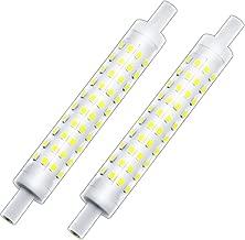 R7S 118mm J Type LED Dimmable Corn Bulb 10 Watt Daylight 75-100W T3 R7S Halogen Replacement Bulbs, Klarlight J118 LED Double Ended Lamp Base Flood Lights Tube Lamps (10 Watt, Daylight)