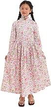 GRACEART Girls Pioneer Dress Colonial Prairie Costume 100% Cotton (7 Colors Option)