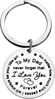 Father Keychain Gift Father's Day Gift To My Dad Never Forget That I Love You Forever, Mens Keychain Dad Keychain Step Dad...