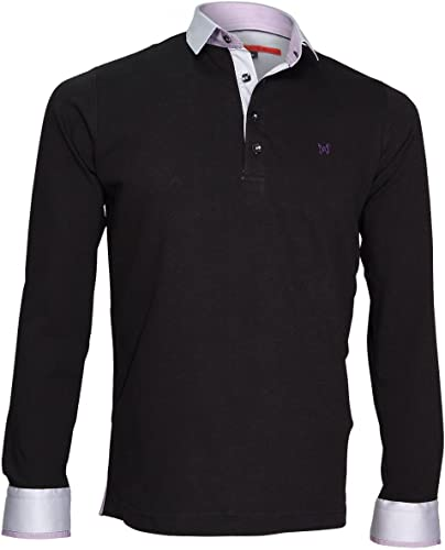Andrew Mc Allister Polo Sweat en Jersey Percy Noir