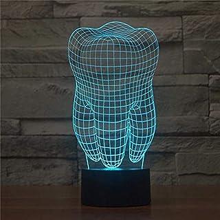 3d visual illusion lamp 3d illusion diente Para Bebés Dormitorio Sala de Estar Fiesta Christmas Bedroom Party Decoration (...