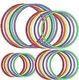 OOTSR 24pz Anelli di Lancio in plastica per Giochi di Anelli Toss, Giochi di Pratica di velocità e agilità, Giochi di Partito, Carnevale, Giardino, Dentro Fuori (4 Taglie, 6 Colori)