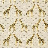 Fabulous Fabrics Dekostoff Halbpanama Giraffe – Natur —