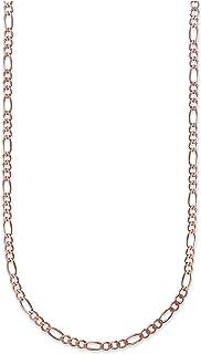 18K Gold 2.3mm Figaro Link Chain Bracelet or Necklace -...