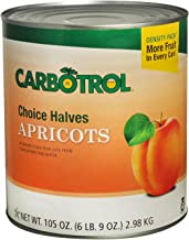 Carbotrol #10 Juice Packed Canned Fruit, Apricot Halves (1 - 105oz Can)