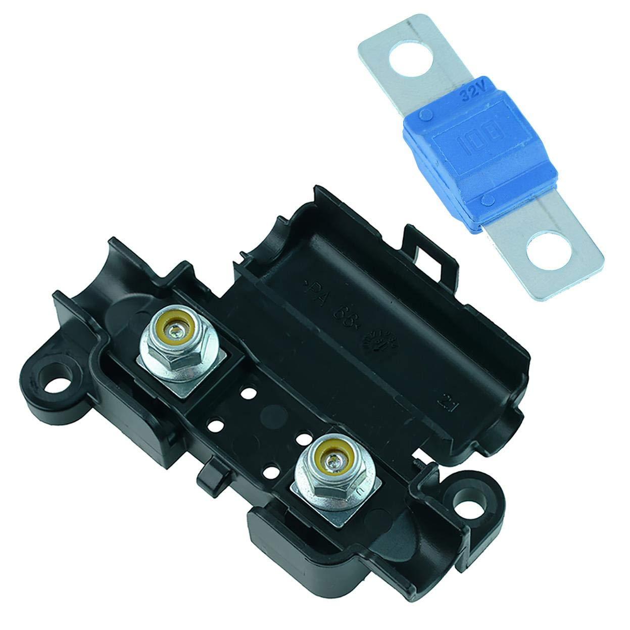 Midi Streifensicherungshalter Und Midi Sicherung 30 A Bis 150 A Auto Auto Kfz 12 V 100 A Blau Gewerbe Industrie Wissenschaft
