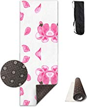 FGRYGF Bright Flowers Printed Design Yoga Mat Extra Thick Exercise & Estera de Yoga Fit Yoga,Pilates,Core Exercises,Floor Exercises,Floor Exercises