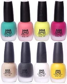 Makeup Mania Premium Nail Polish Set, Velvet Matte Nail Paint Combo of 8 Pcs, Perfect Gift for Girls and Women (Set No. 22-65), Multicolor, 600 g