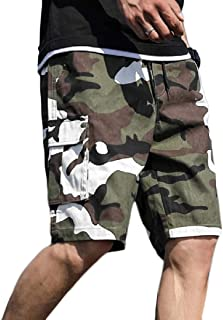 Men's Outdoor Lightweight Quick Dry Hiking Casual Cargo Shorts with Multi Pocket