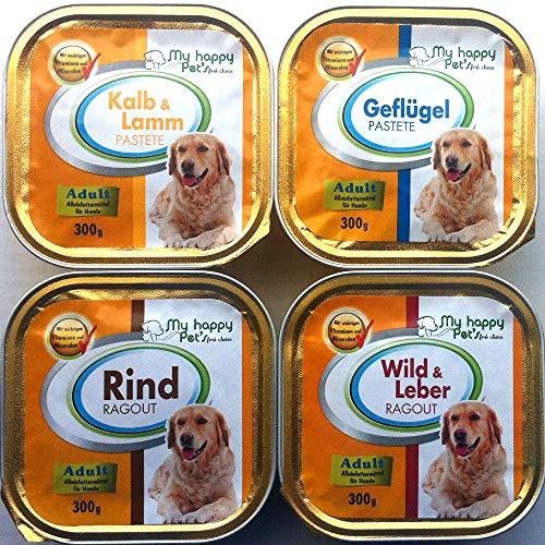 My Happy Pet´s 54 x 300g Hundefutter Pastete und Ragout Verschiedene Sorten