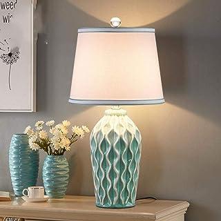 Lámpara de mesa de cerámica minimalista moderna nórdica para dormitorio Lámpara de escritorio junto a la cama Pantalla de ...