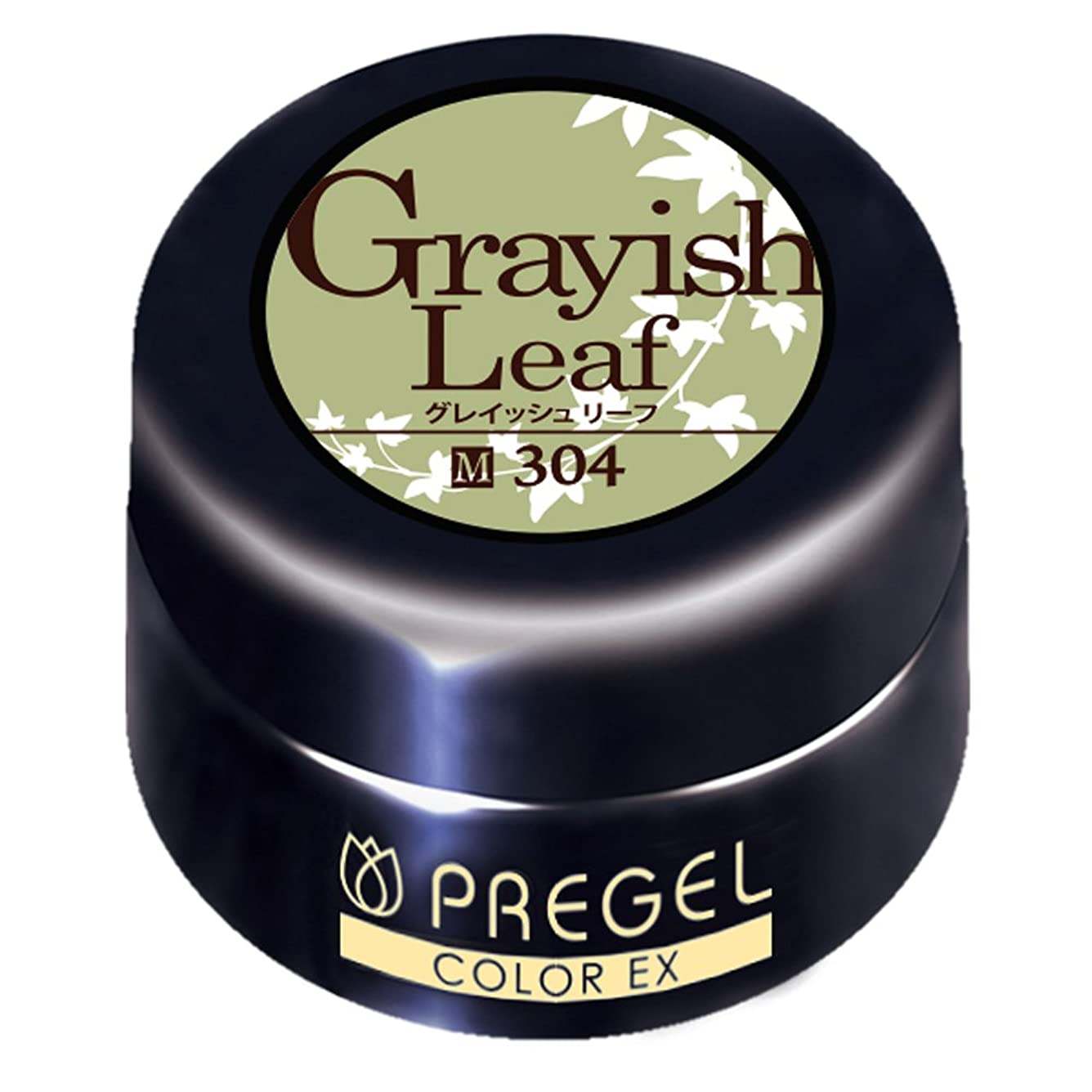 まっすぐ寝室を掃除する進化するプリジェル ジェルネイル カラーEX グレイッシュリーフ 4g PG-CE304