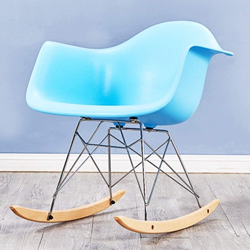 Dossier Chaise de Salle à Manger Chaise de réception Ménage Paresseux Loisir Restaurant Familial Office Café Rocking Chair en Bois Massif (Color : G) B