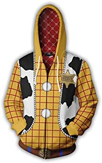 Unisex Toy Story Hoodie Woody Buzz Lightyear Cosplay Costume Pullover Pocket Sweatshirt Kids