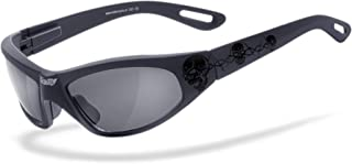 HELLY - No.1 Bikereyes   Bikerbrille, Motorradbrille, Motorrad Sonnenbrille   TRIBAL-BRILLE: beschlagfrei, winddicht, bruchsicher   TOP Tragegefühl bei langen Ausfahrten   Brille: black angel