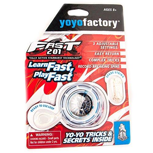YoyoFactory FAST 201 Yo-Yo - BLEU (Idéal Pour les débutants, Jeu Yoyo Moderne , Roulement à Billes En Métal, \