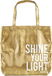 CB Gift Tote Bag-Shine Your Light-Gold (Gilded Goodness) (16