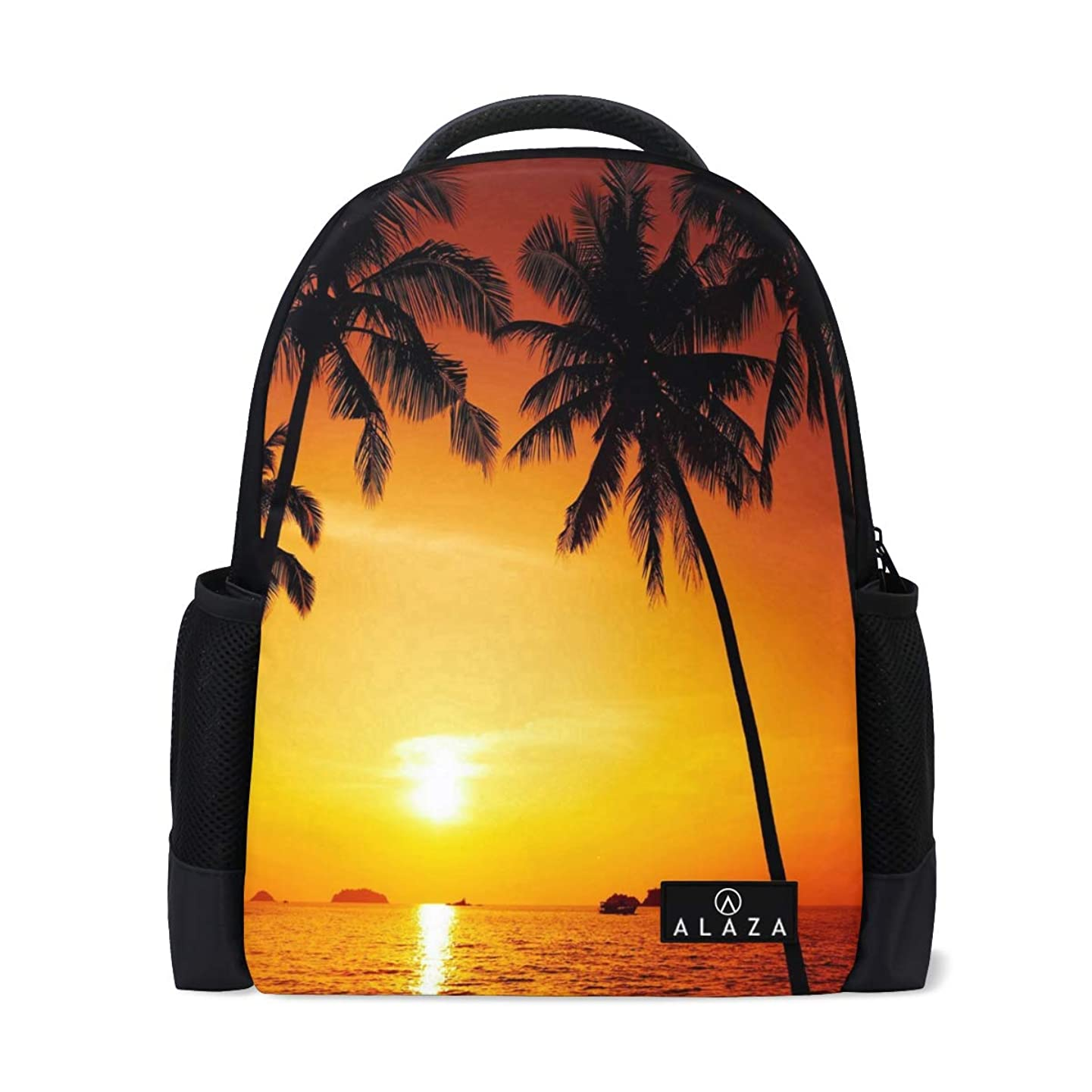 Travel Laptop Backpack Women Print Bookbags Palm Tree Sunset Nature School College Student Daypack for Girls Teenage