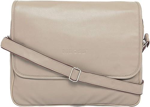 Ivory 5 6 Liter Travel Faux Leather 15 6 Inch Laptop Messenger Bag