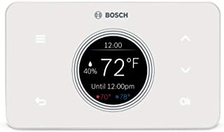 Bosch Thermotechnology BCC50 Wi-Fi Thermostat-Works with Alexa and Google Assistant, All-in-One, Touch Screen, Safety Control, Smart Home, White