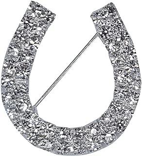 Rhinestone Jewelry Horseshoes Pin Unique Gift Rhinestone Brooches