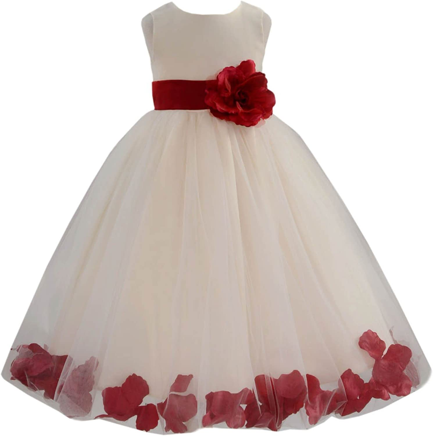 Ivory Flower Girl Bombing free shipping Dress Coral Turquoise Clover Apple E Red Green Rapid rise