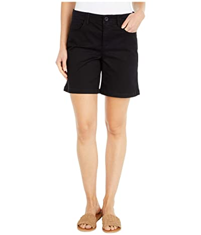 NYDJ Five-Pocket Shorts with Stretch Twill in Black (Black) Women